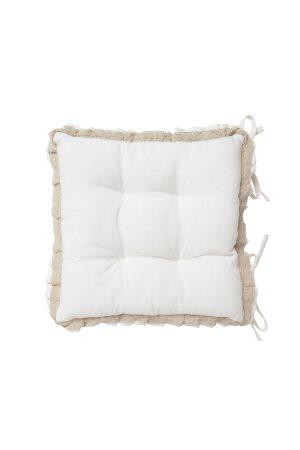 Διακοσμητικό μαξιλάρι καρέκλας με δαντέλα 40χ40 Coincasa