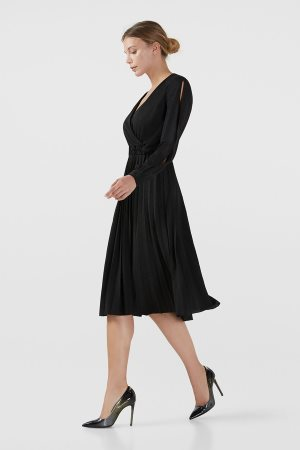 Trussardi Jeans γυναικείο φόρεμα lurex πλισέ
