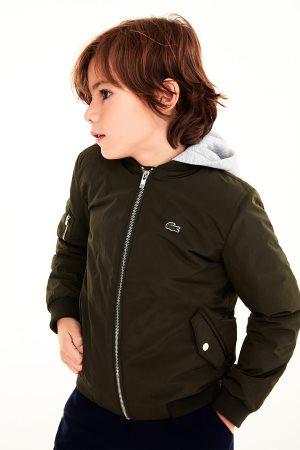 Lacoste παιδικό μπουφάν με κουκούλα (4-16 ετών)