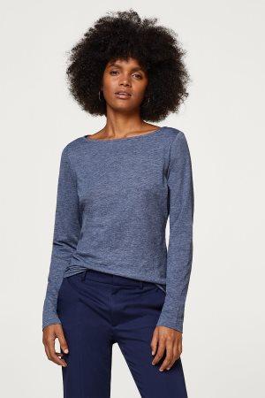 Esprit γυναικεία μπλούζα μακρυμάνικη απο οργανικό βαμβάκι