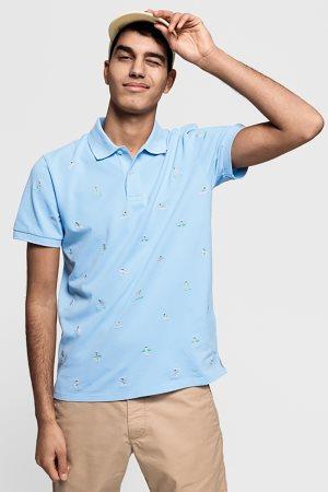 Gant ανδρική μπλούζα πόλο με μικροσχέδιο