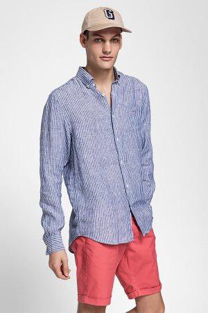 Gant ανδρικό λινό πουκάμισο ριγέ
