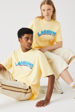 Lacoste unisex T-shirt με letter logo print