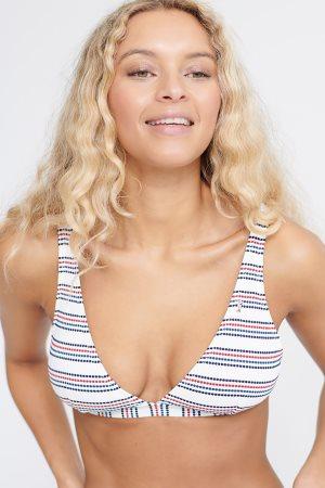 "Superdry γυναικείο μαγιό μπικίνι top τρίγωνο ""Edit Stripe Bikini Top"""