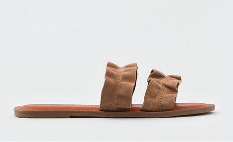 AE Double Ruffle Strap Sandal