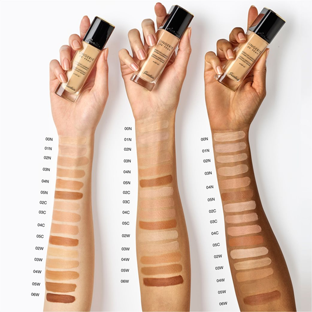Guerlain Lingerie De Peau Natural Perfection Skin-Fusion Texture Fluid Foundation 02W Light Warm 30 ml 1