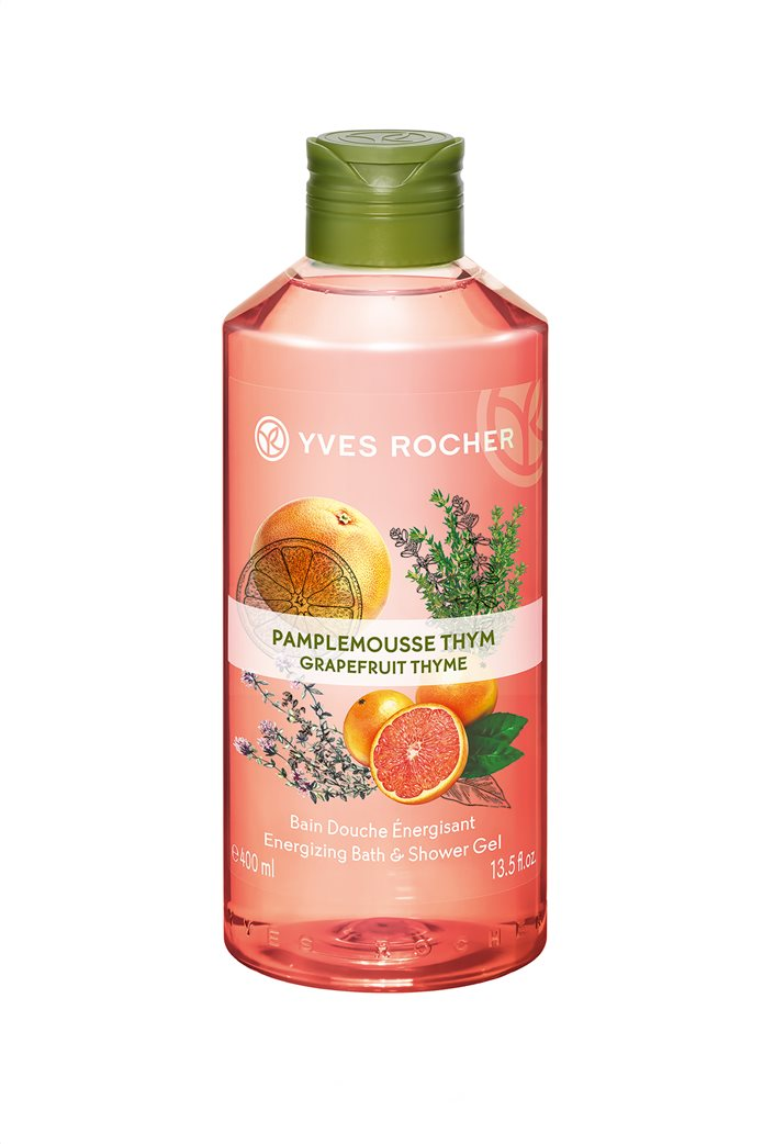 Yves Rocher Energizing Bath and Shower Gel Grapefruit Thyme 400 ml 0