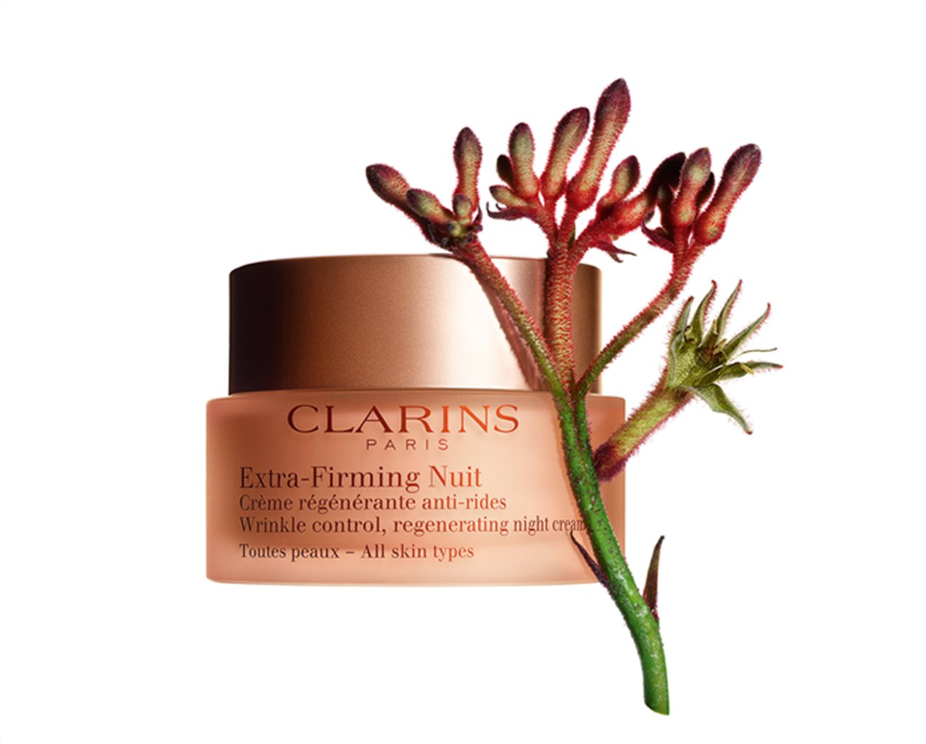 Clarins Extra Firming Nuit Wrinkle Control Regenerating Night Cream All Skin Types 50 ml 2