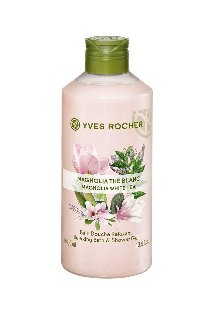 Yves Rocher Relaxing Bath and Shower Gel Magnolia White Tea 400 ml 0
