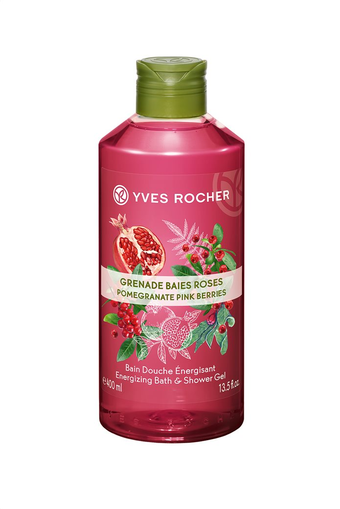 Yves Rocher Energizing Bath and Shower Gel Pomegranate Pink Berries 400 ml 0
