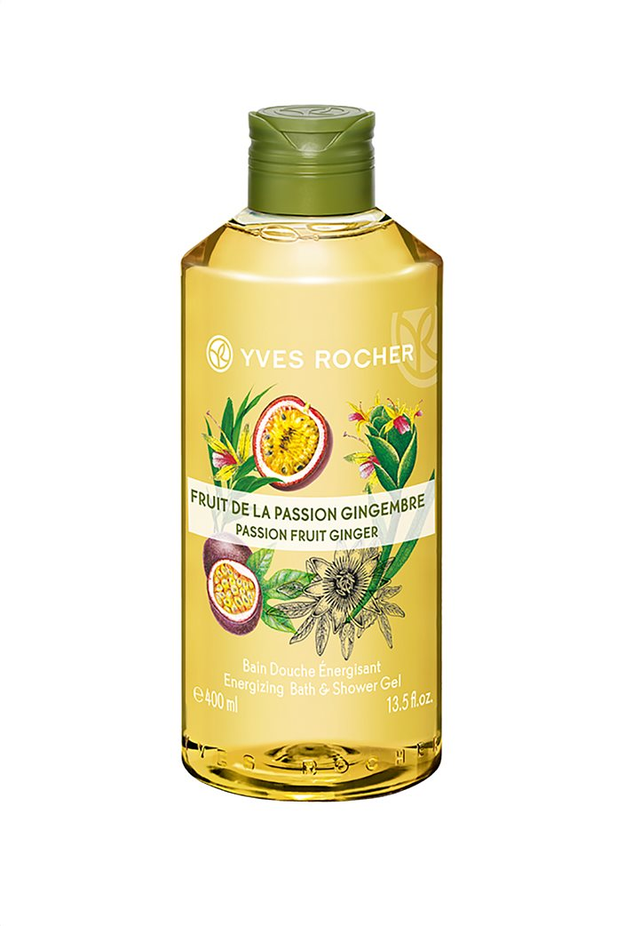 Yves Rocher Energizing Bath and Shower Gel Passion Fruit Ginger 400 ml 0