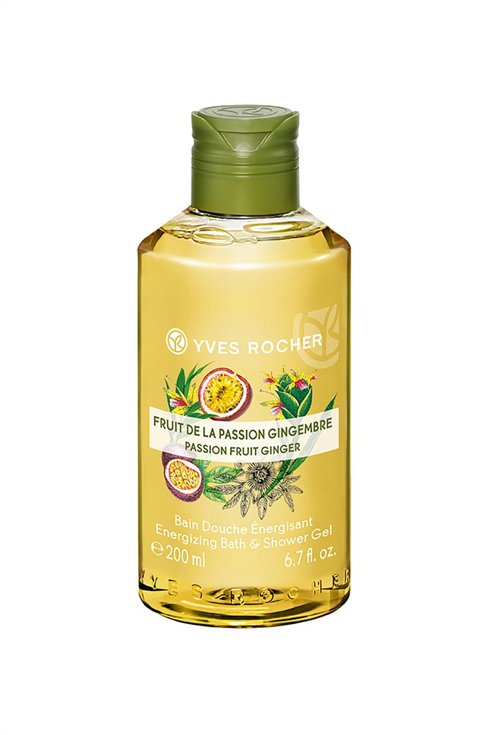 Yves Rocher Energizing Bath and Shower Gel Passion Fruit Ginger 200 ml 0