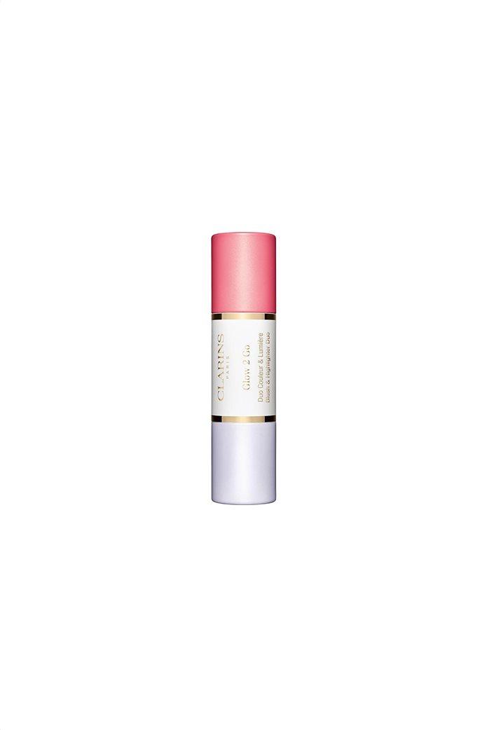 Clarins Glow 2 Go Blush & Highlighter Duo 01 Glowy Pink 2x4.5 gr. 0
