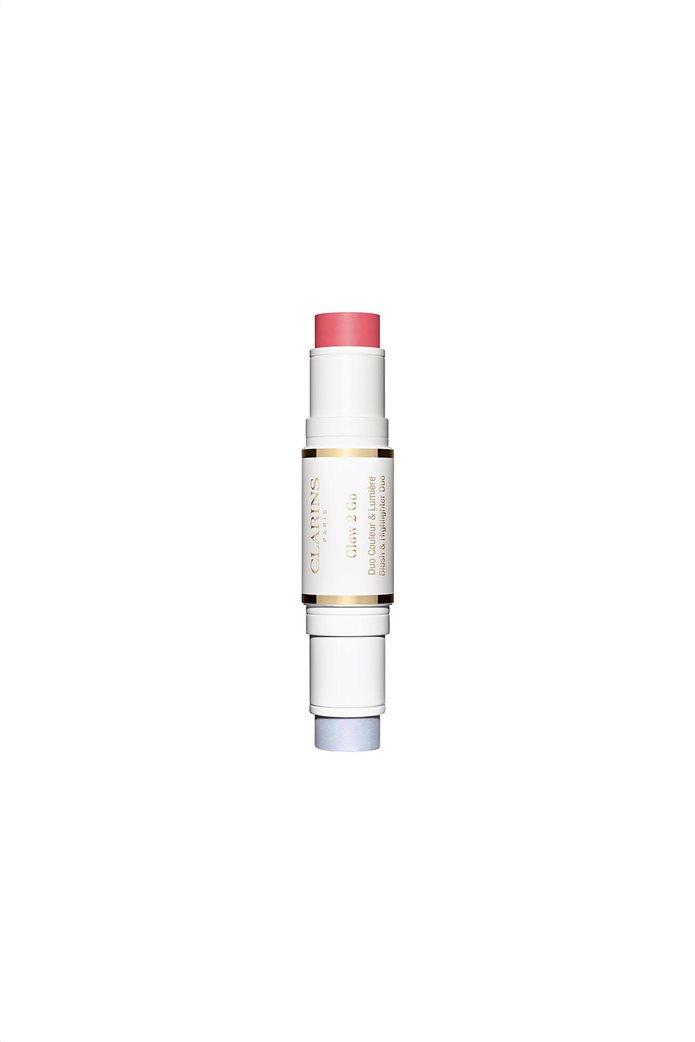 Clarins Glow 2 Go Blush & Highlighter Duo 01 Glowy Pink 2x4.5 gr. 1