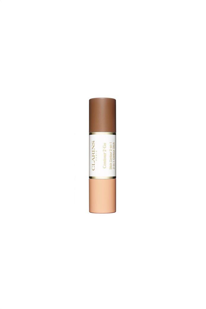 Clarins Glow 2 Go Blush & Highlighter Duo 02 Golden Peach 2x4.5 gr. 0