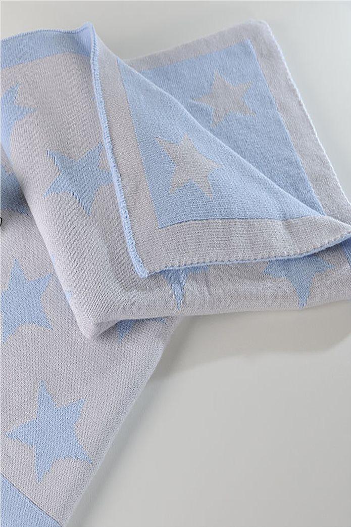 DOWN TOWN Home Βρεφική κουβερτούλα Imperio 254 Grey/Blue Star (90x120)   Γαλάζιο 0