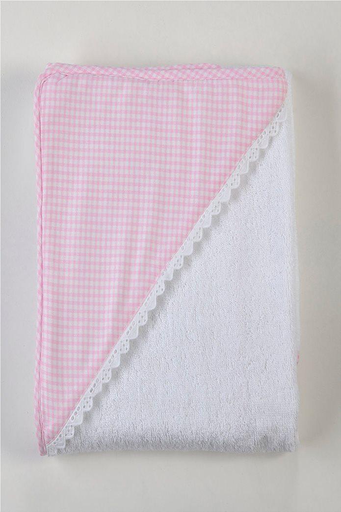 DOWN TOWN Home Βρεφική κάπα Ροζ/Λευκή(75x75)   0