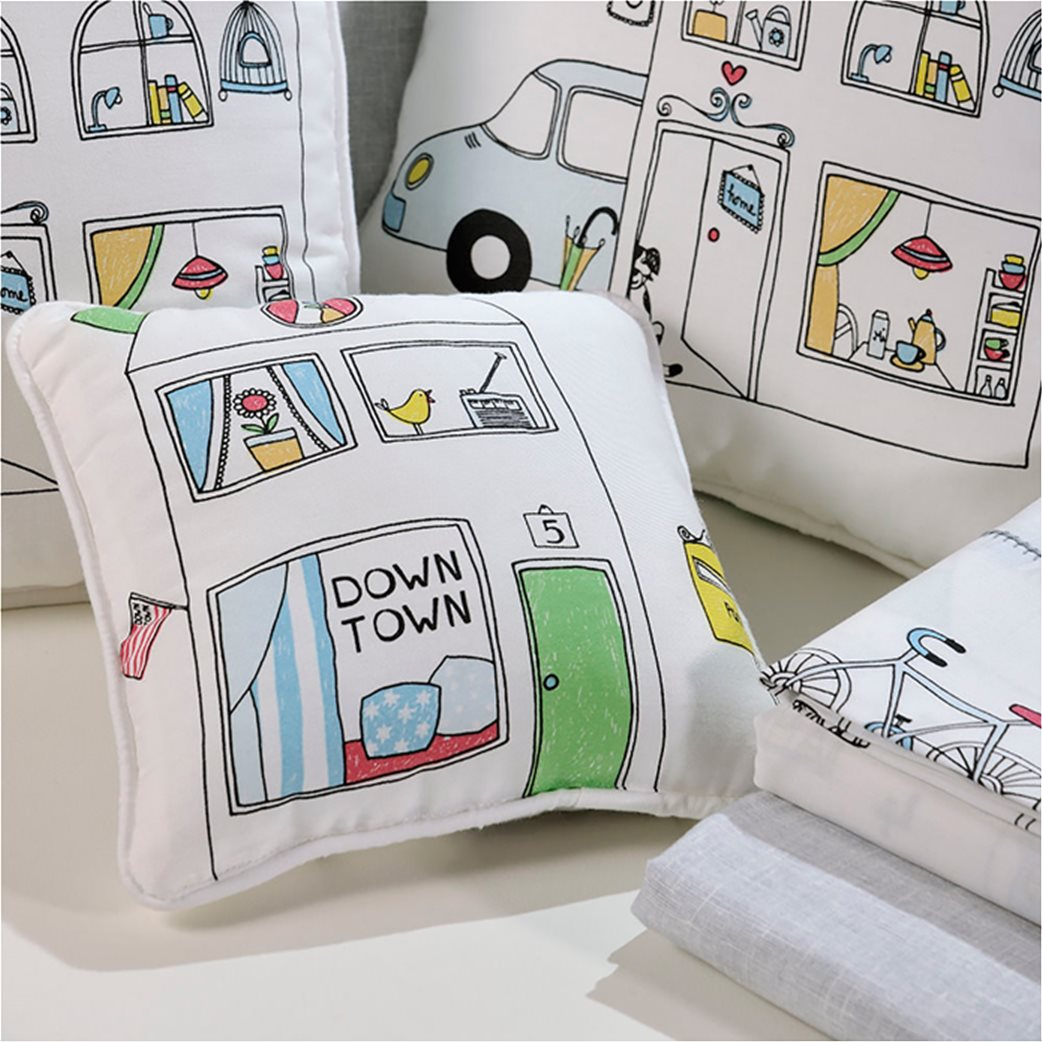 DOWN TOWN Home Σετ σεντόνια κούνιας 117 (3 τεμάχια)   3