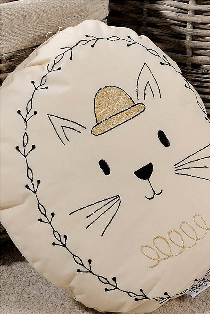 DOWN TOWN Home Διακοσμητικό μαξιλαράκι Cat Εκρού 0