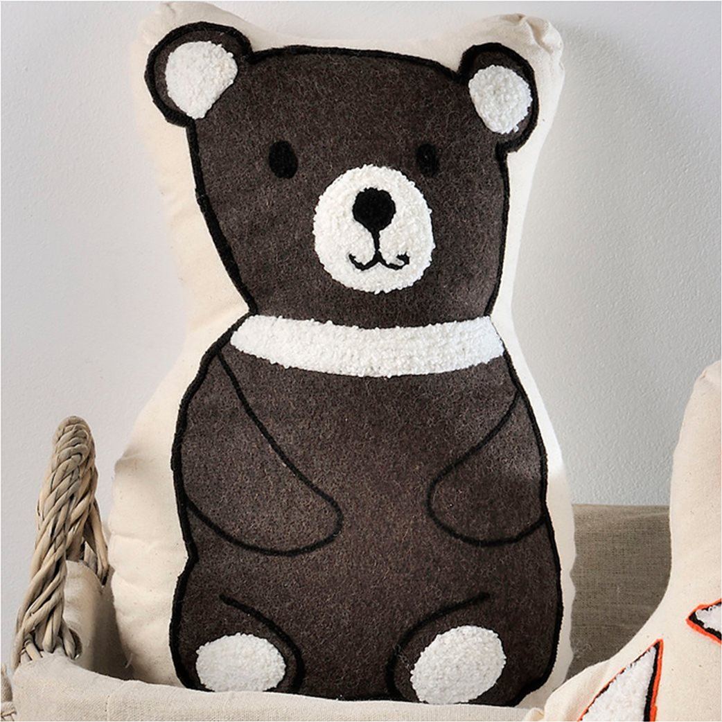 DOWN TOWN Home Διακοσμητικό μαξιλαράκι Bear 1