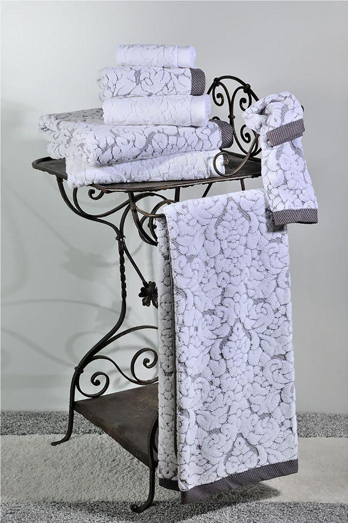 DOWN TOWN Home Σετ πετσέτες μπάνιου Classic 650 Γκρι (3 τεμάχια)   0