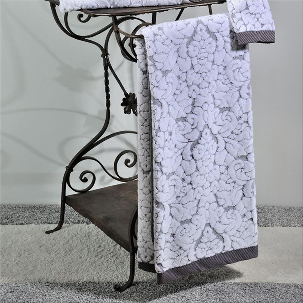 DOWN TOWN Home Σετ πετσέτες μπάνιου Classic 650 Γκρι (3 τεμάχια)   1