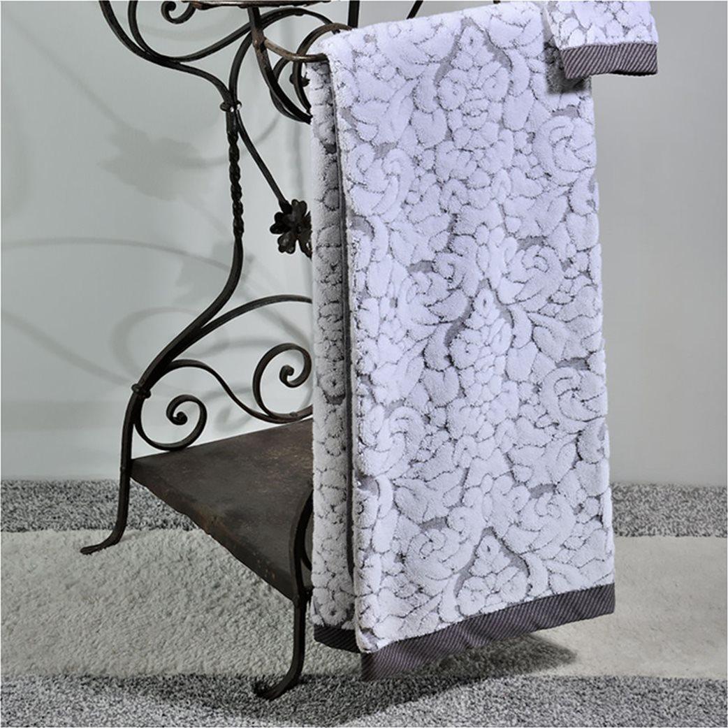 DOWN TOWN Home Πετσέτα προσώπου Classic 650 Λευκό (50x90)   1