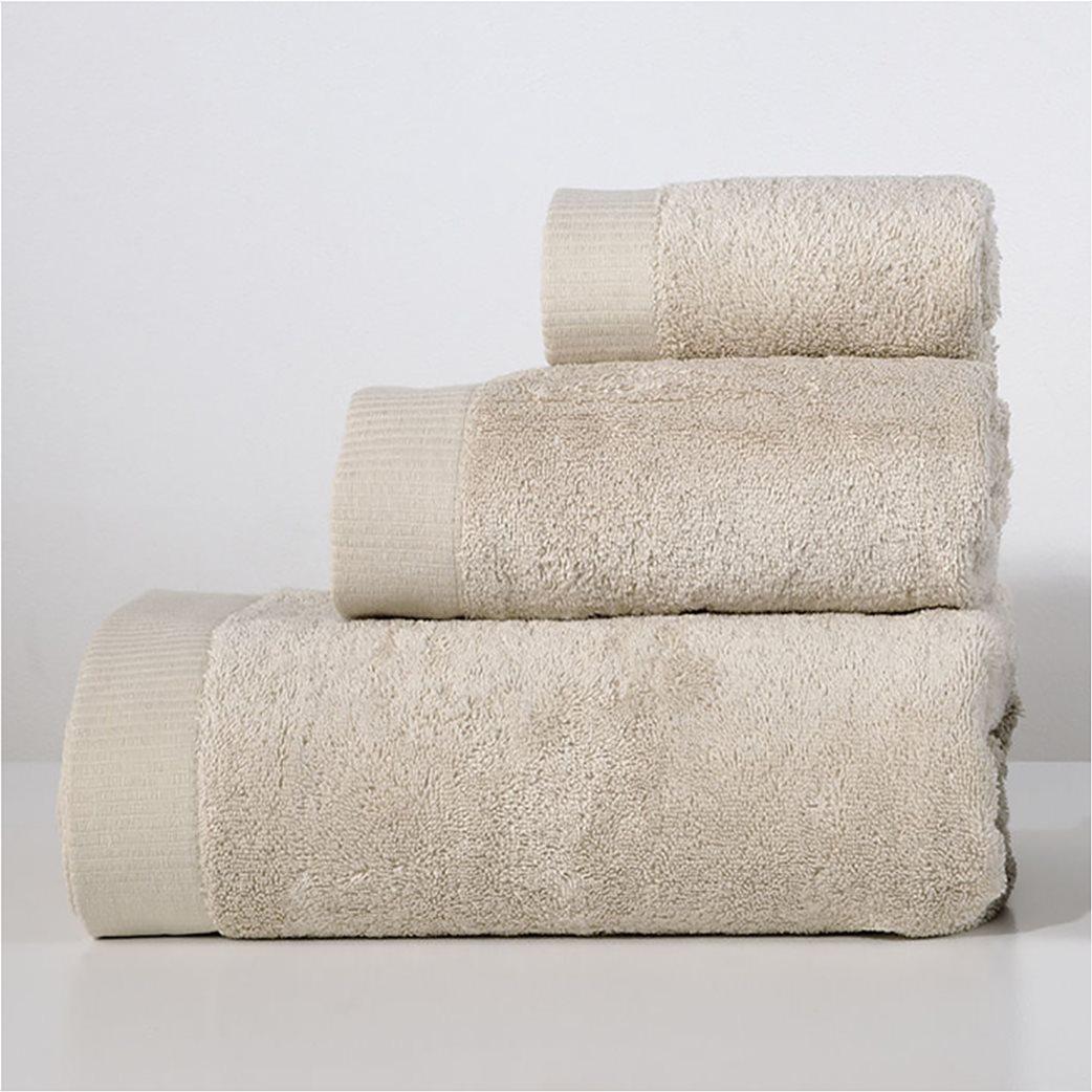 DOWN TOWN Home Σετ πετσέτες μπάνιου Lotus Beige (3 τεμάχια)   1