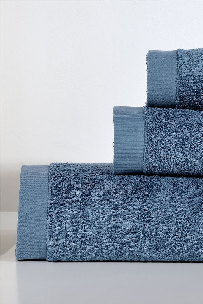 DOWN TOWN Home Σετ πετσέτες μπάνιου LotusBlue(3 τεμάχια)   Μπλε 0