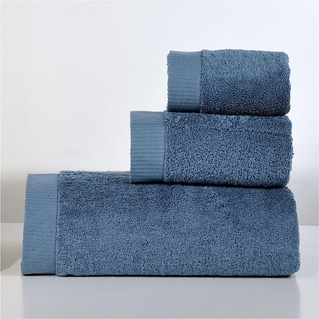 DOWN TOWN Home Σετ πετσέτες μπάνιου LotusBlue(3 τεμάχια)   Μπλε 1