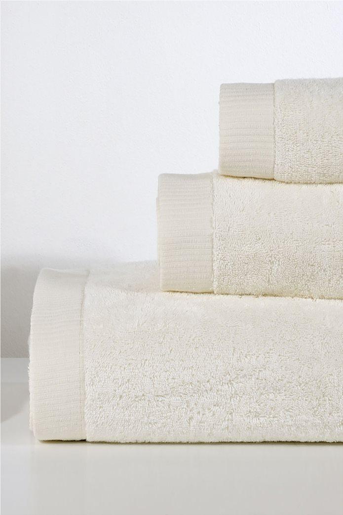 DOWN TOWN Home Σετ πετσέτες μπάνιου Lotus Ecru (3 τεμάχια) 0
