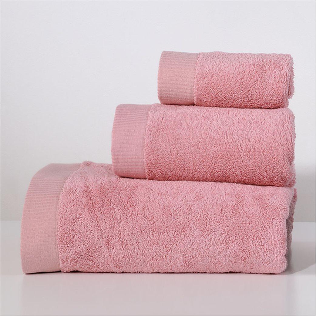 DOWN TOWN Home Σετ πετσέτες μπάνιου Lotus Rose (3 τεμάχια)   1