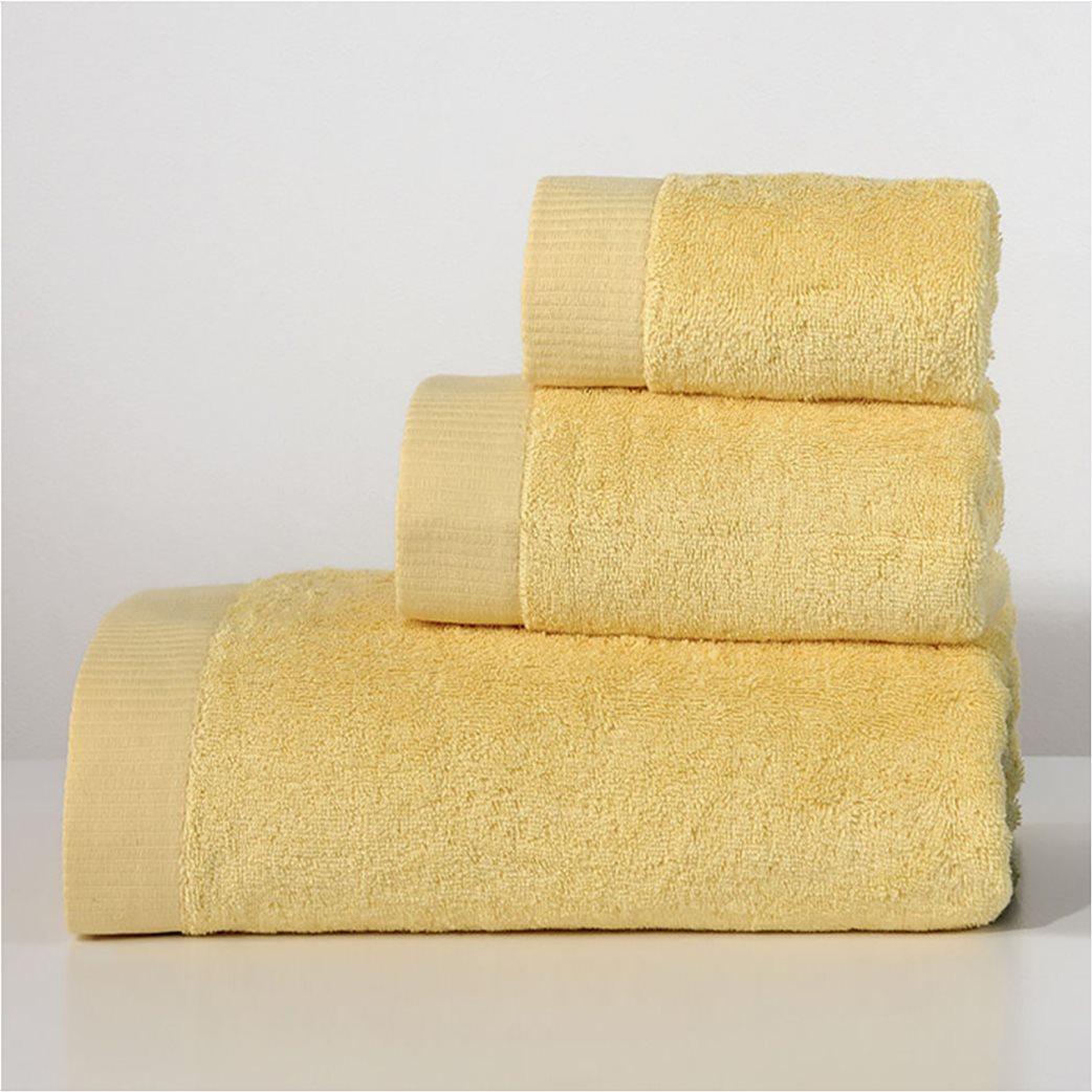 DOWN TOWN Home Πετσέτα προσώπου Lotus Yellow (50x90)   1