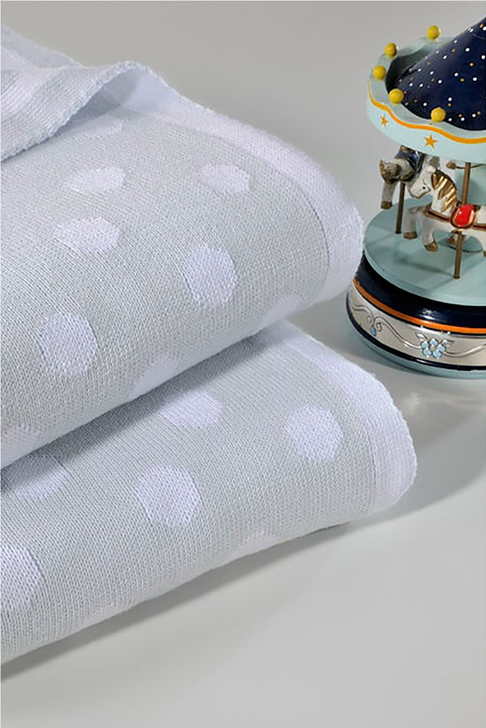 "DOWN TOWN Home βρεφική κουβέρτα κούνιας πουά ""198 Grey"" 90 x 120 cm Γκρι 0"
