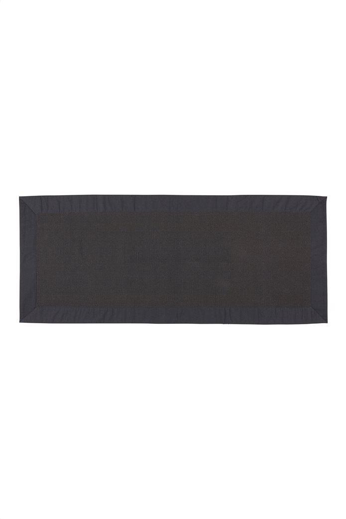 Σουπλά Zefiro μαύρο με ribbed σχέδιο 220 x 50 cm Coincasa 0