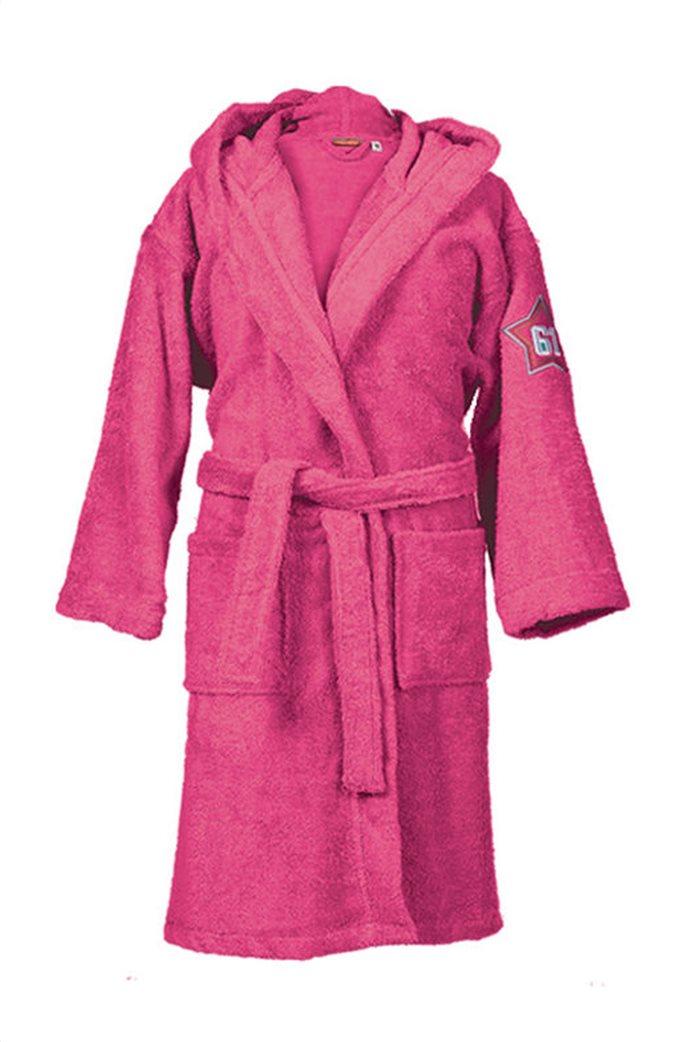 Παιδικό φούξια μπουρνούζι με κουκούλα (12 ετών) NEF-NEF 0
