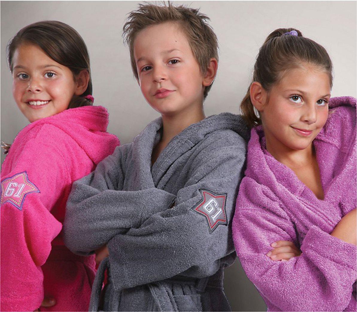 Παιδικό φούξια μπουρνούζι με κουκούλα (12 ετών) NEF-NEF 2