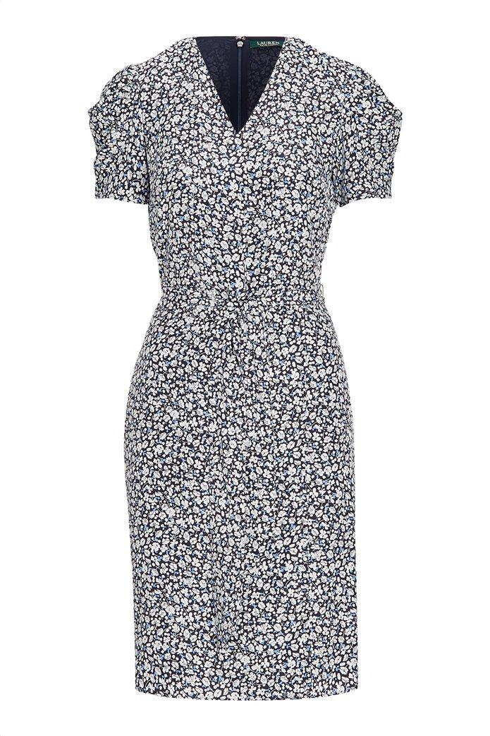 Lauren Ralph Lauren γυναικείο εμπριμέ φόρεμα με ζώνη 0