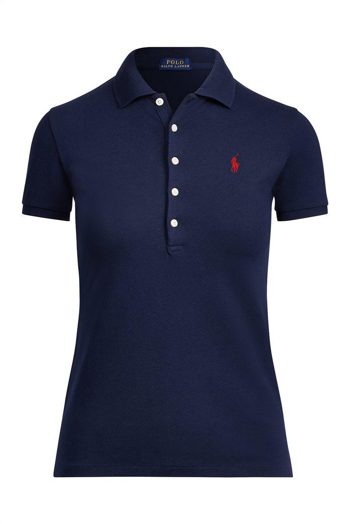 Polo Ralph Lauren γυναικεία μπλούζα Polo Slim Fit Stretch Μπλε Σκούρο 1