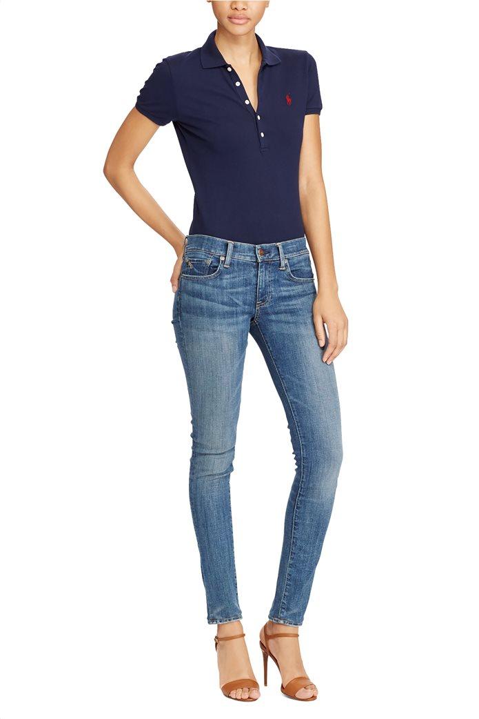 Polo Ralph Lauren γυναικεία μπλούζα Polo Slim Fit Stretch Μπλε Σκούρο 2