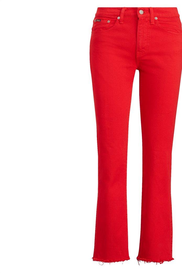 Polo Ralph Lauren γυναικείο τζην παντελόνι The Chrystie Kick Flare Crop Κόκκινο 5