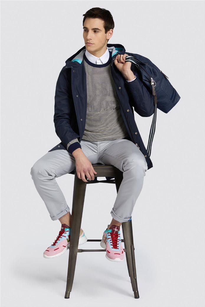 Trussardi Jeans ανδρικό πουκάμισο μονόχρωμο regular-fit Λευκό 2