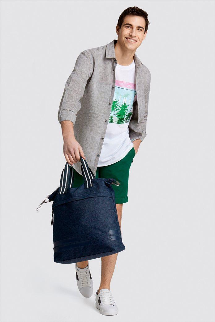Trussardi Jeans ανδρικό λινό πουκάμισο Slim fit 2