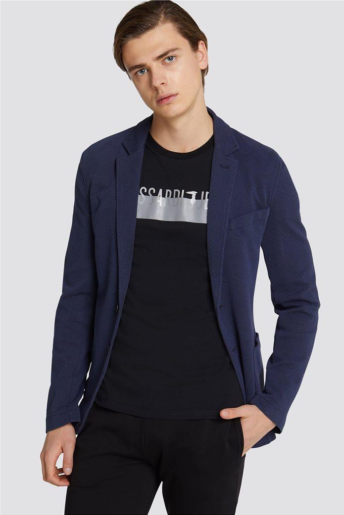 Τrussardi Jeans ανδρικό σακάκι Slim fit 0