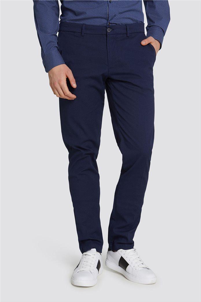Trussardi Jeans ανδρικό υφασμάτινο παντελόνι με μικροσχέδιο 0