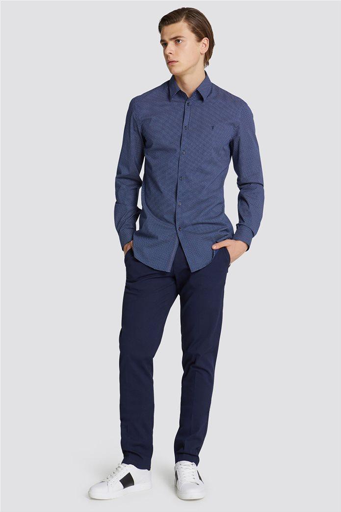 Trussardi Jeans ανδρικό υφασμάτινο παντελόνι με μικροσχέδιο 2
