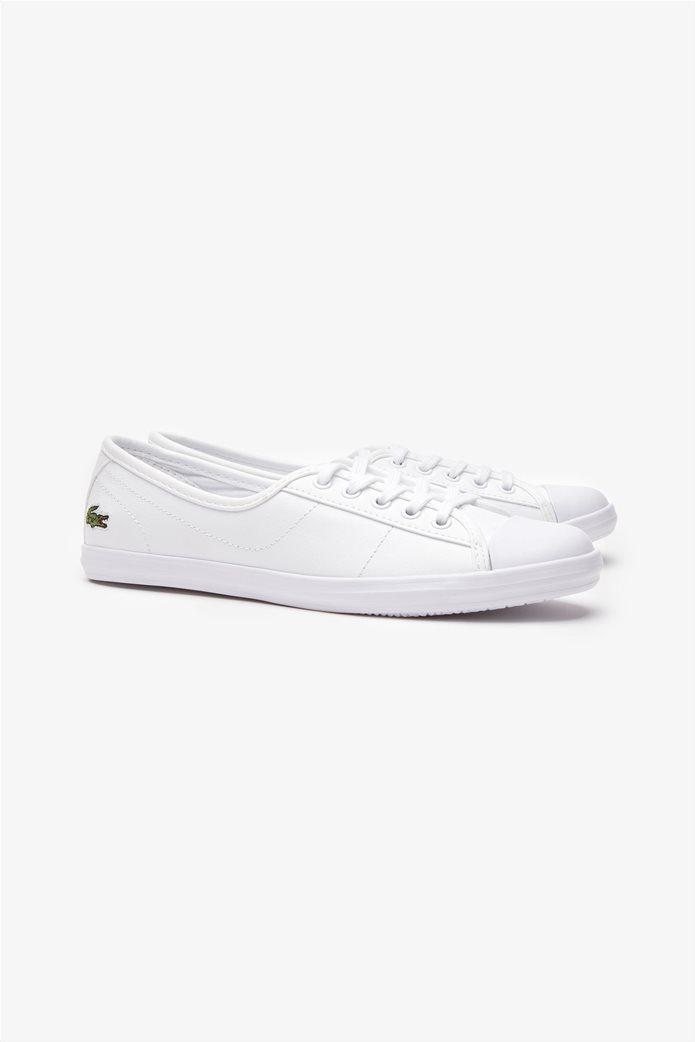 Lacoste γυναικεία sneakers με κορδόνια Ziane Λευκό 1