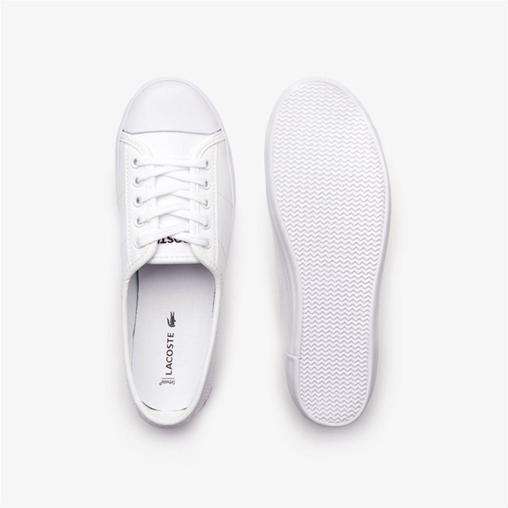 Lacoste γυναικεία sneakers με κορδόνια Ziane Λευκό 3