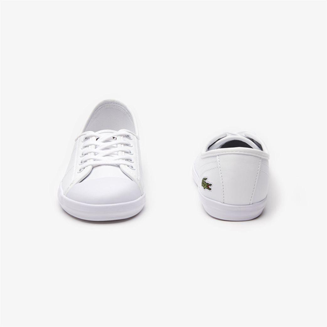 Lacoste γυναικεία sneakers με κορδόνια Ziane Λευκό 4