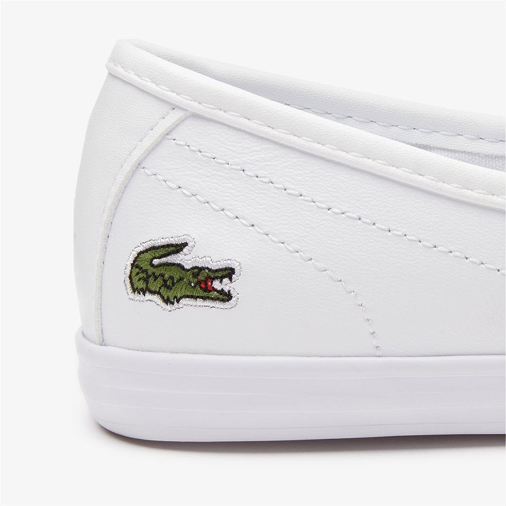 Lacoste γυναικεία sneakers με κορδόνια Ziane Λευκό 5